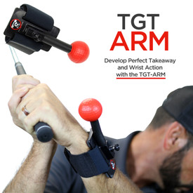 The TGT Arm fits any golfer and can be used either on the wrist, or the upper arm(creating width) The versatility to use on the lead side and/or trail side makes the TGT Arm stand out as the best wrist, elbow, and arm training device on the market. Golf Training Wrist