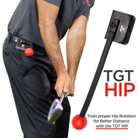 The Total Golf Trainer - Hip is a simple device that provides visual and tactical feedback ensuring that your hips are in the proper position (with the proper sequencing of events) throughout the golf swing. Golf Training Device
