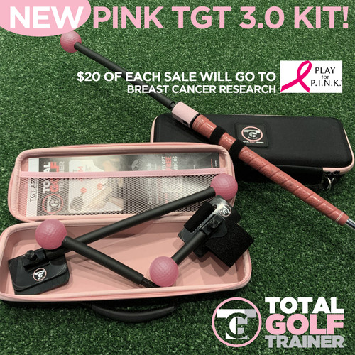 Our fellow PRO's and Golfers!!!! Join us in this special breast cancer awareness fundraiser. We have designed a limited edition PINK Total Golf Trainer 3.0 Kit.  We are always looking to give back somehow and figured we have an opportunity to do something very impactful. We plan on donating $20 from each sale of the PINK TGT 3.0 Kits to help raise $5000.