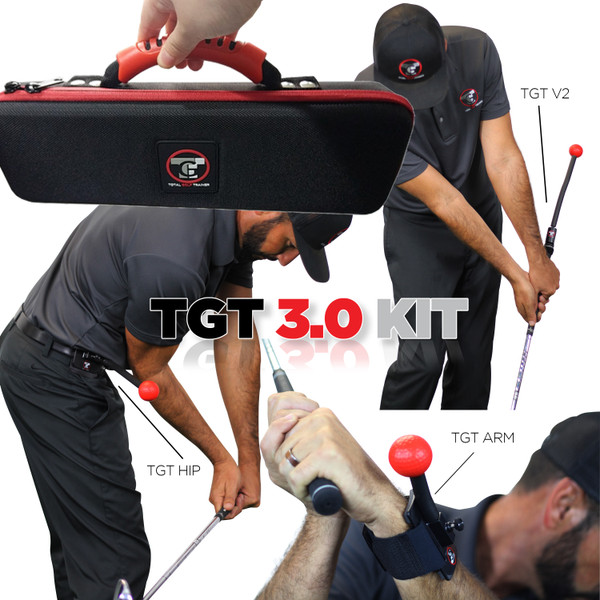 This kit comes with the Total Golf Trainer V2, TGT Arm, TGT Hip, everything you need to improve your swing and lower your scores. Improve your range time & reinforce your lessons. The 3.0 Kit provides all the products you need to improve every aspects of your game. Golf Training Device