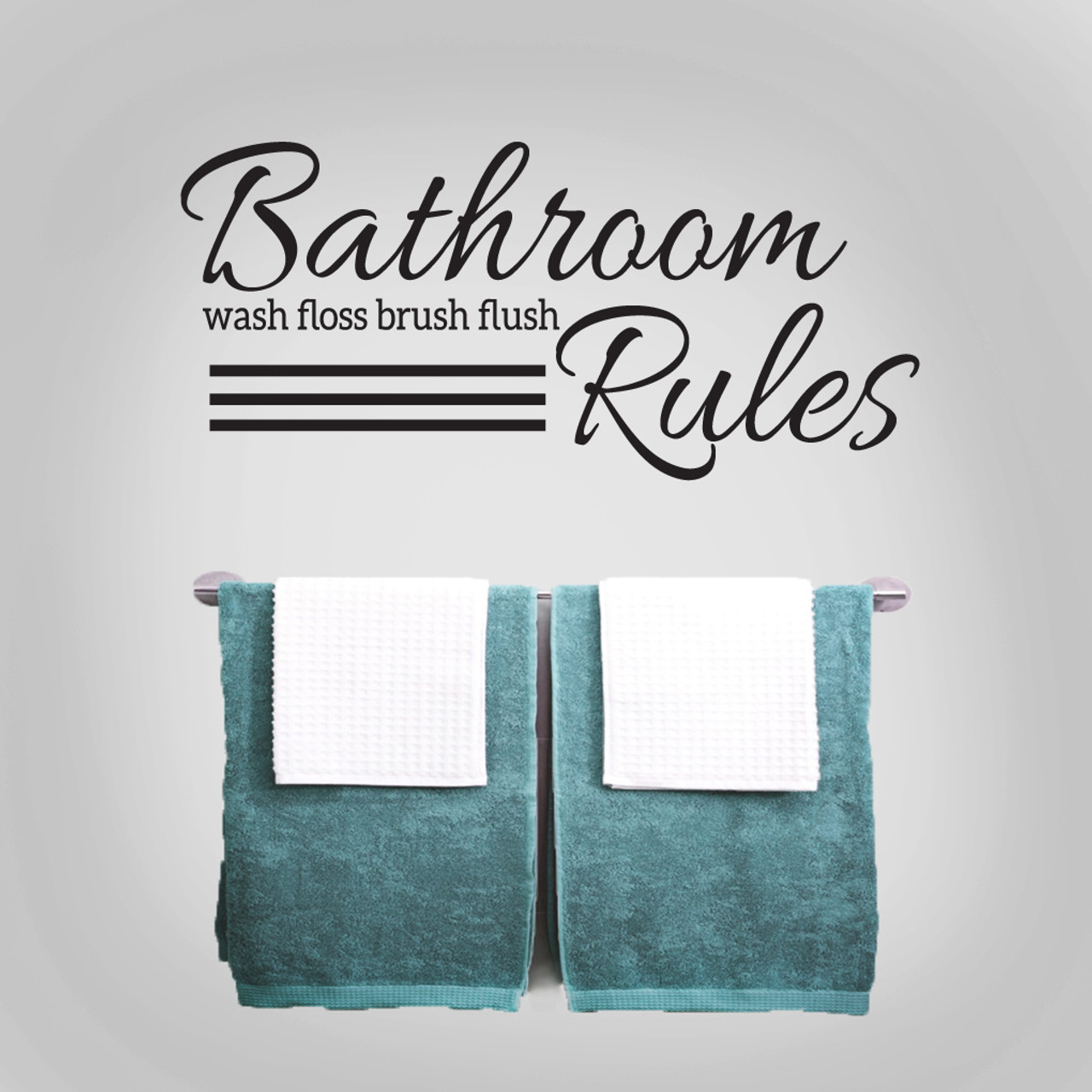 Bathroom Rules Wall Decals Kids Bathroom Quotes Sweetums Signatures