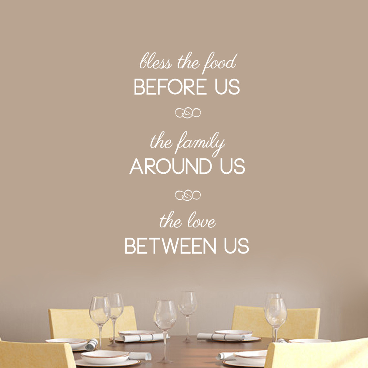 39c9231c315 Bless The Food Before Us Wall Decals 22