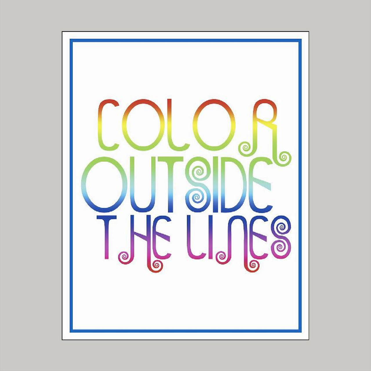 Color Outside the Lines Art Print Wall Stickers