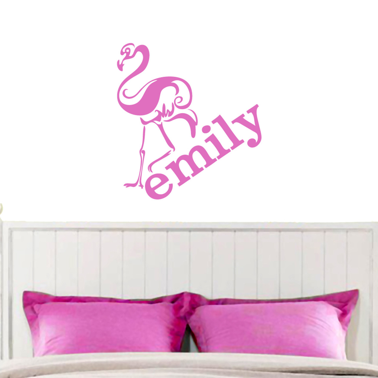 594ce274df76 Flamingo with Custom Name Wall Decals Wall Decor Stickers