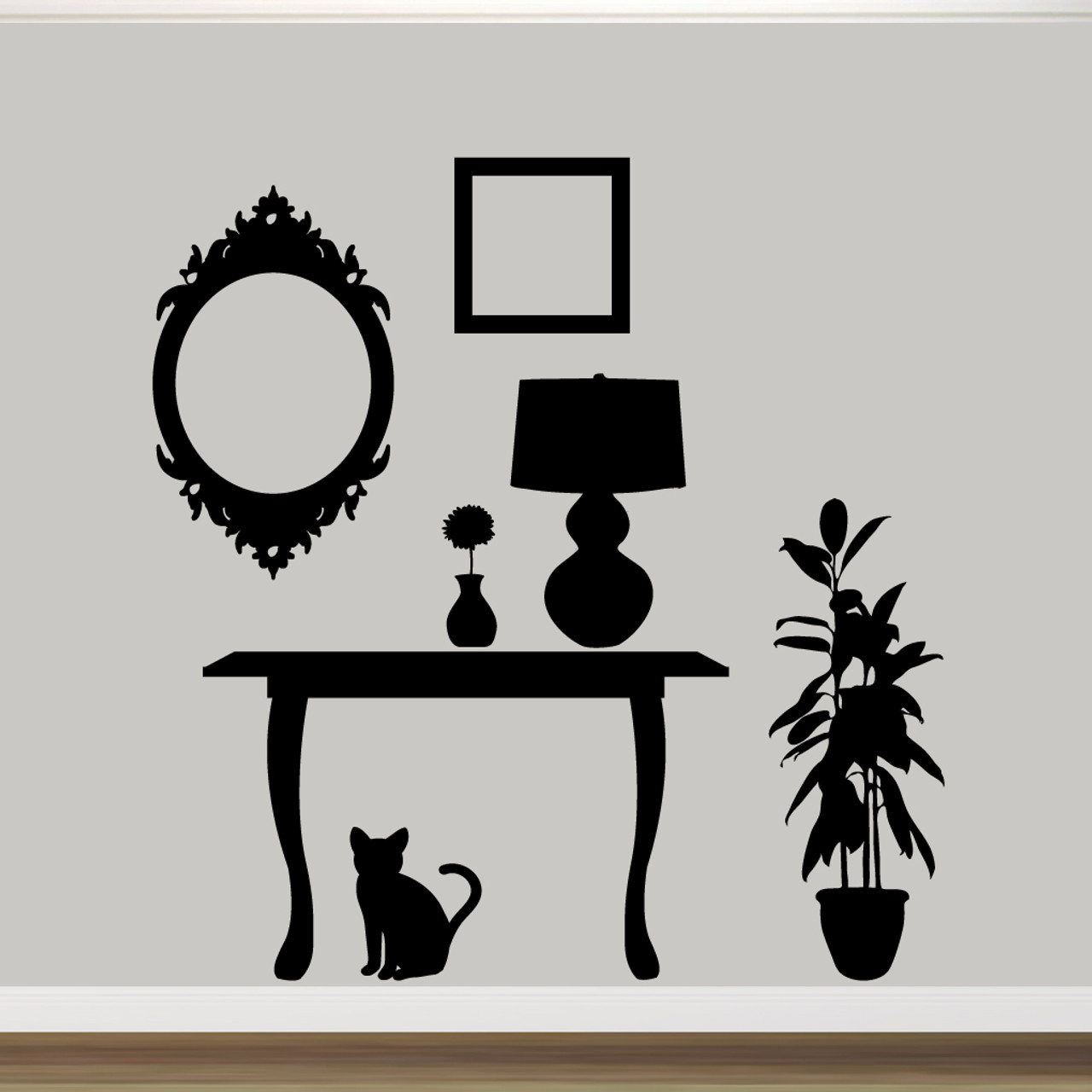 Furniture Silhouettes Wall Decals Wall Stickers Large Sample Image ...