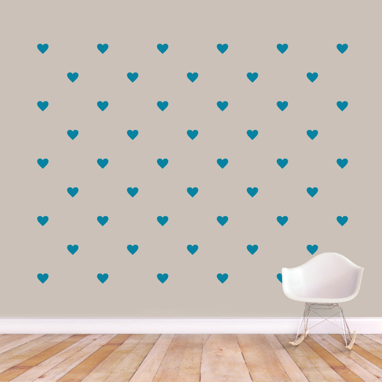 Hearts Wall Decal Pack - Shapes, Love, Pattern, Bedroom, Nursery, Wall Art  Decal