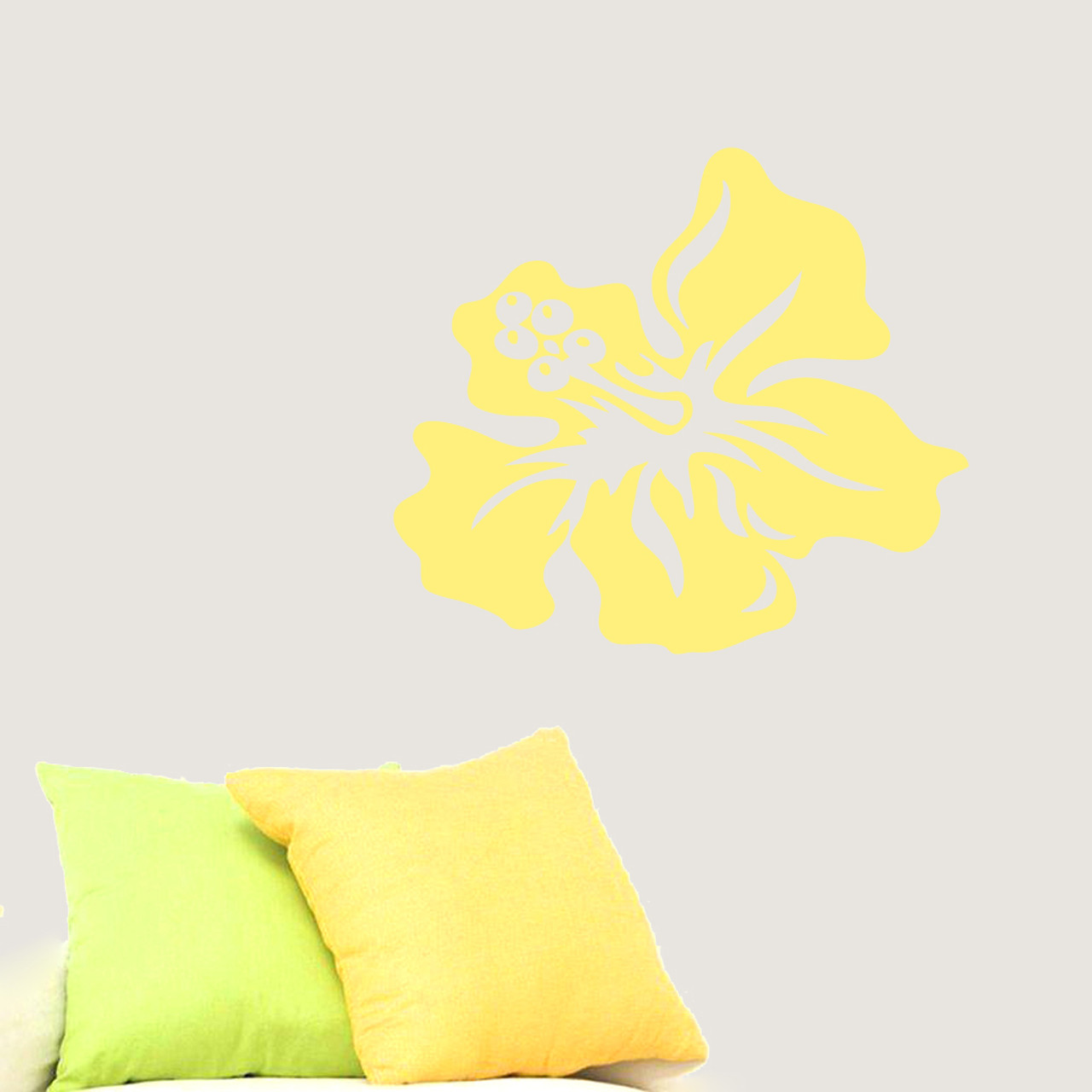 Hibiscus Flower Wall Decals Wall Decor Stickers