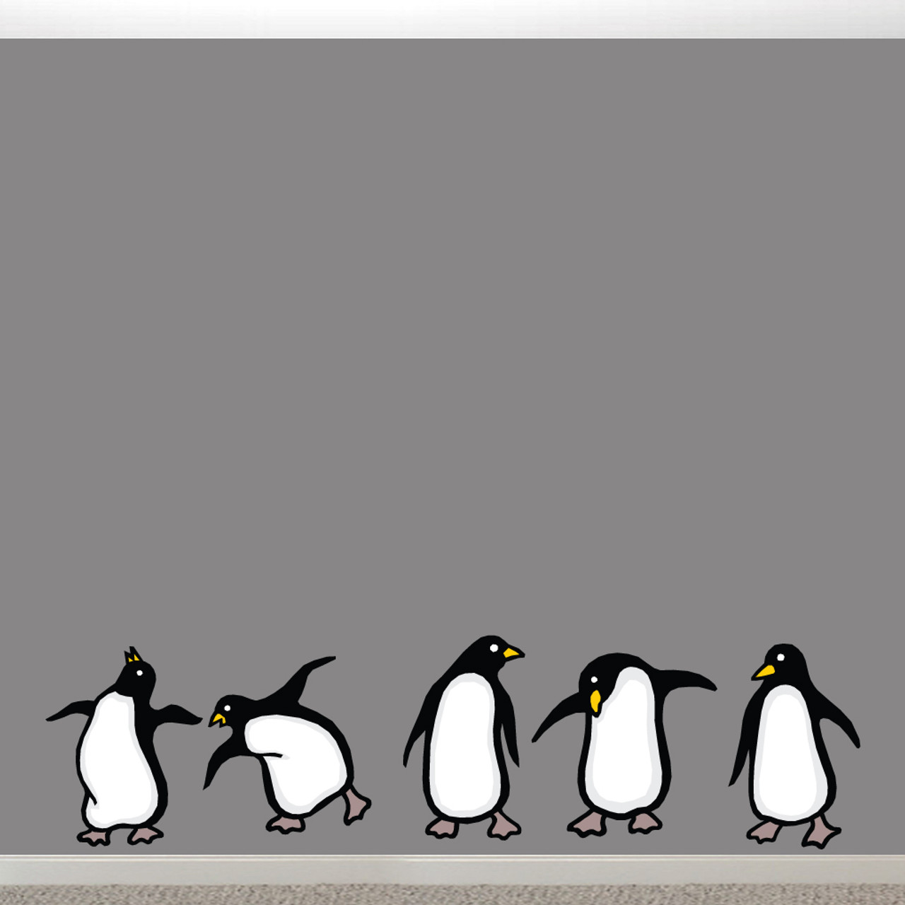 Penguins Printed Wall Decals Home Décor Wall Decals