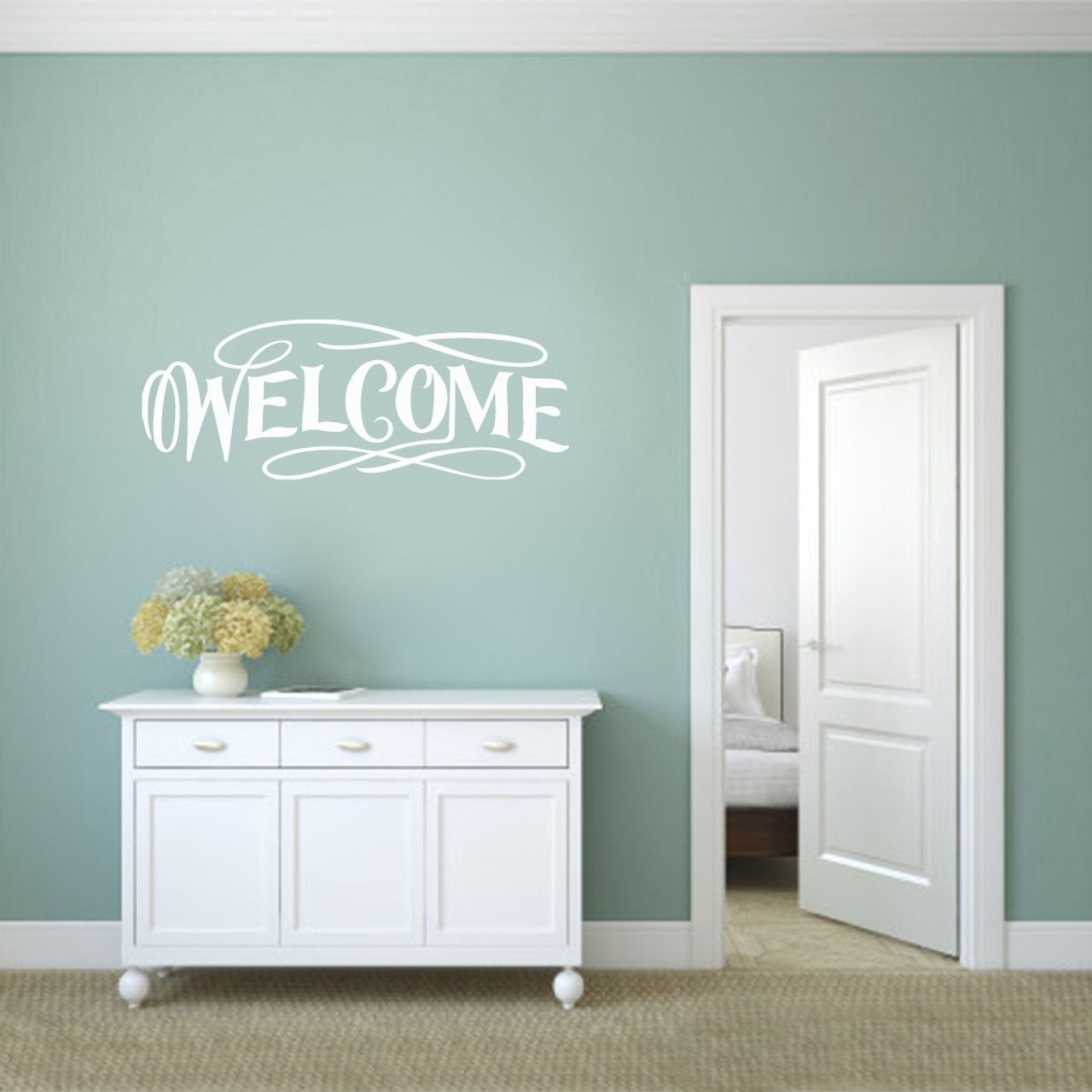 Fancy Welcome Wall Decals Wall Decor Stickers