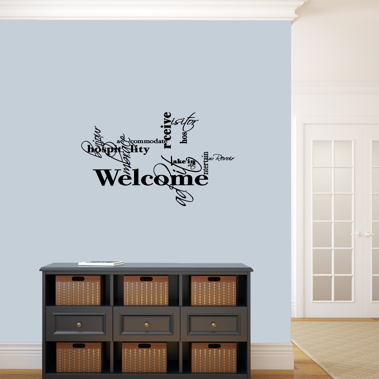 Words For Welcome Entryway Wall Decal