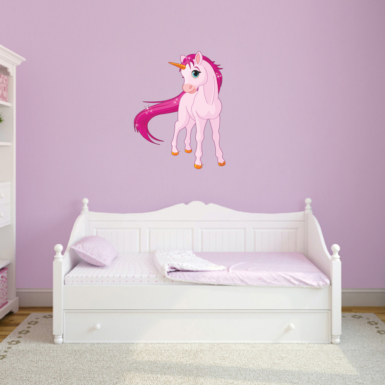 Pink Unicorn Printed Wall Decal