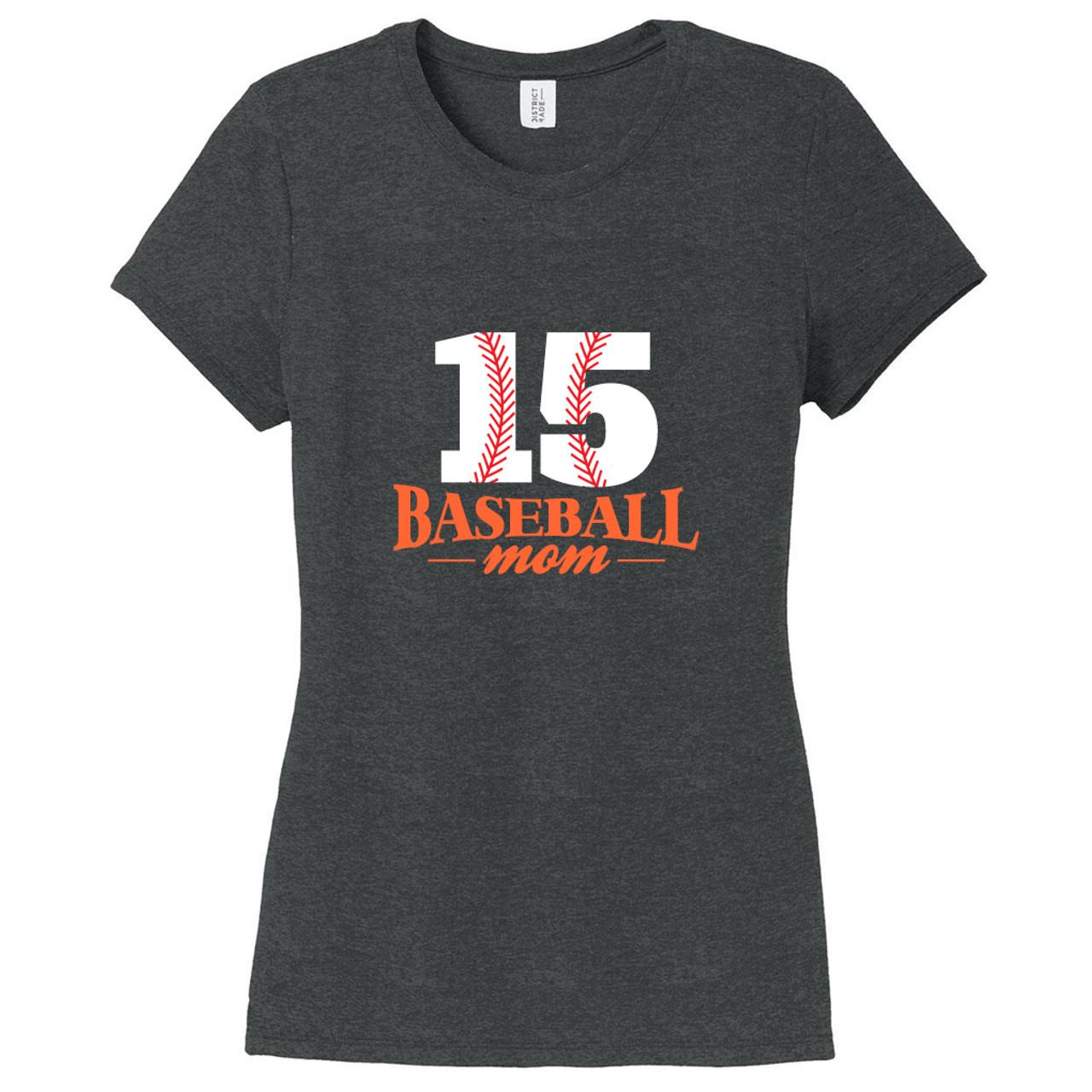 7d3e1f23 Black Frost Custom Baseball Mom Women's Fitted T-Shirt | Sweetums Shirt