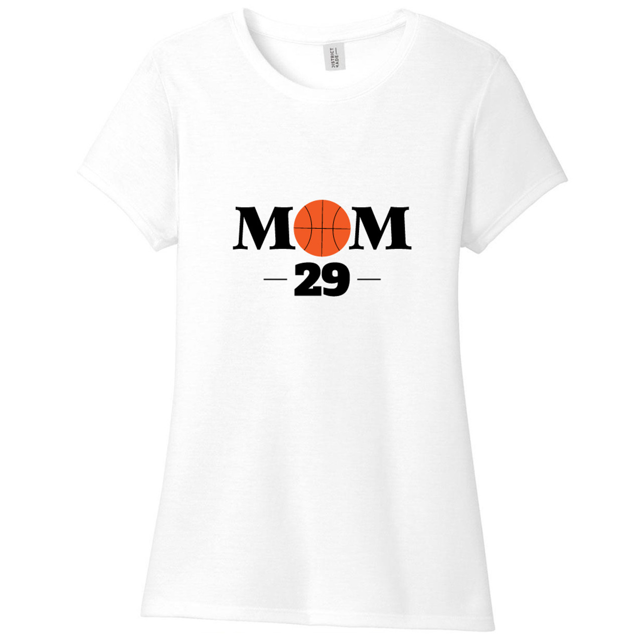 57047bbbe White Custom Basketball Mom Women s Fitted T-Shirt