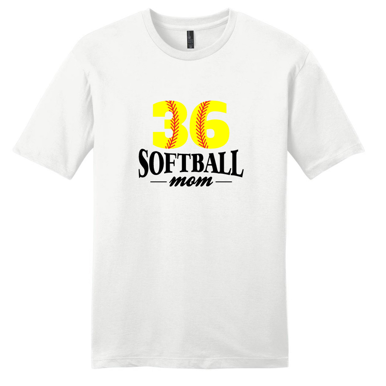 White Custom Softball Mom T Shirt Sweetums Shirt