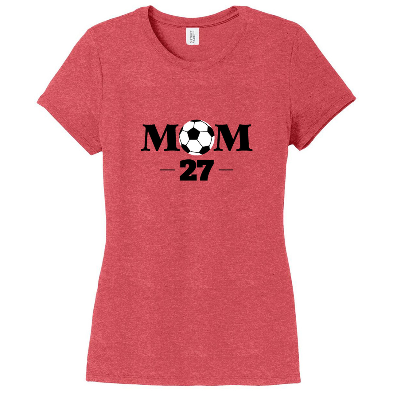 87eb7ec7 Red Frost Custom Soccer Mom Women's Fitted T-Shirt | Sweetums Shirt