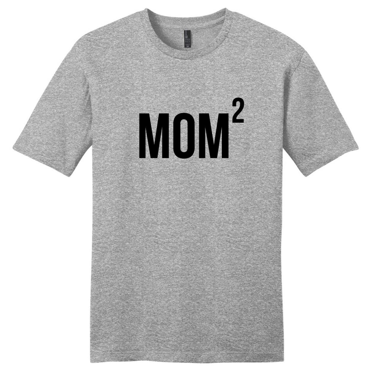 4a243434e Light Heathered Gray Custom Mom x 2 T-Shirt | Sweetums Shirt