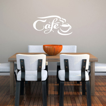 Cafe Wall Decals 22 Wide X 11 Tall Sample
