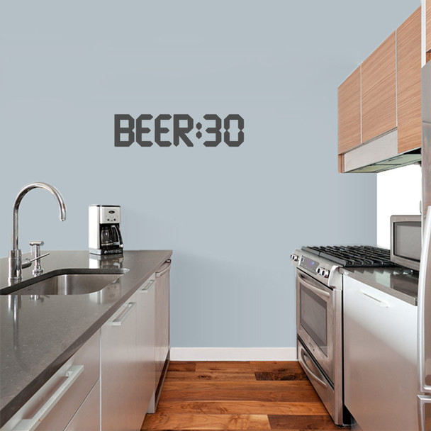 Beer 30 Wall Decal Alcohol Beer Funny Quotes Drinking Man Cave Kitchen