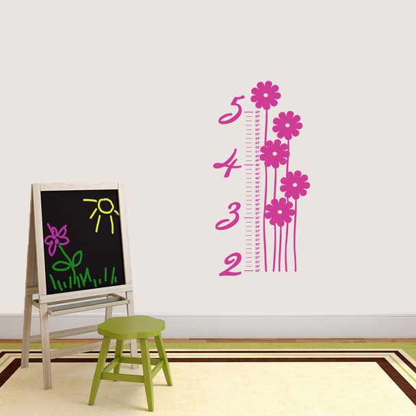 Flower Growth Chart Wall Decals Wall Decor Stickers