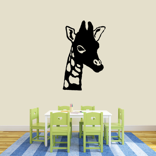 giraffe head wall decals wall decor stickers