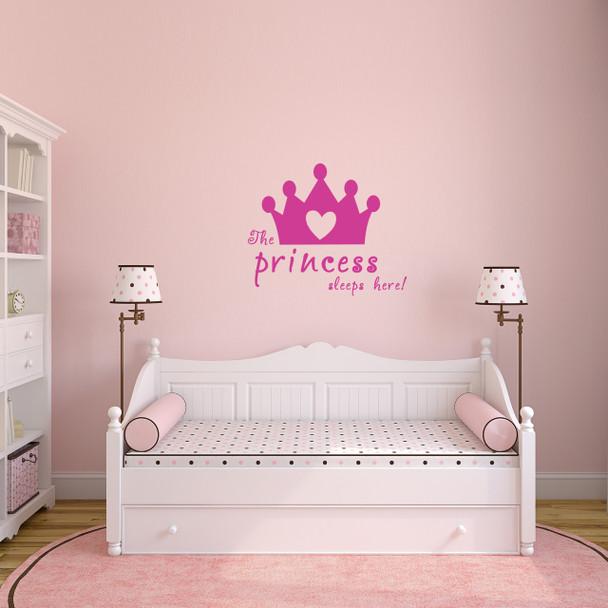 The Princess Sleeps Here Wall Decal
