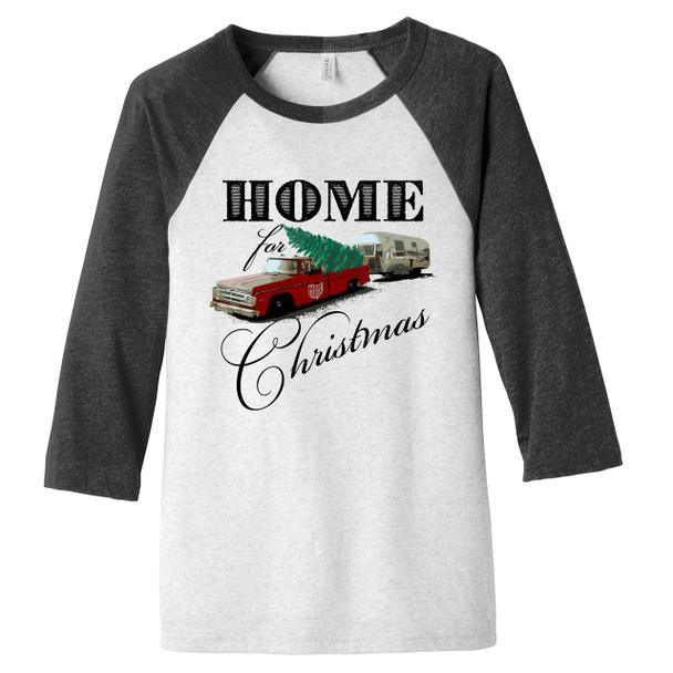 Home For Christmas Homegrown Ohio Truck Adult Unisex Raglan