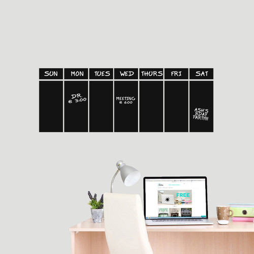 This Week Chalkboard Calendar Wall Decals Wall Stickers