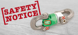 DMM Nexus Swivel Safety Notice