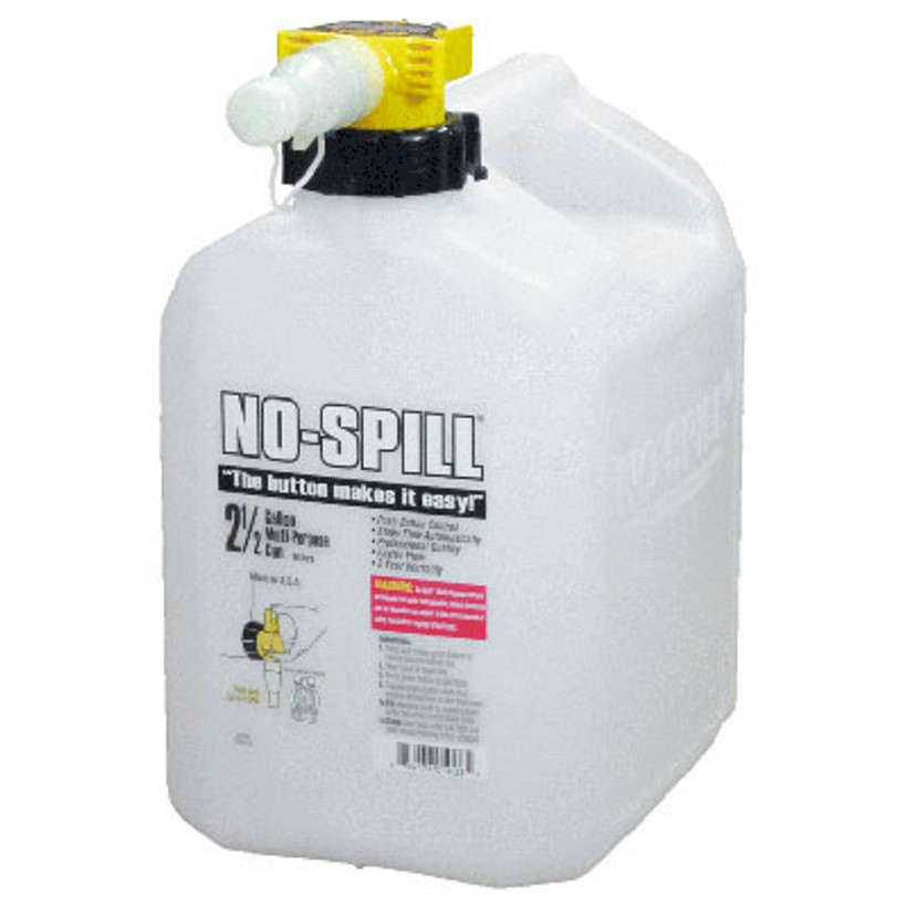 No-Spill Multi-Purpose Translucent Can 2-1/2 gallon