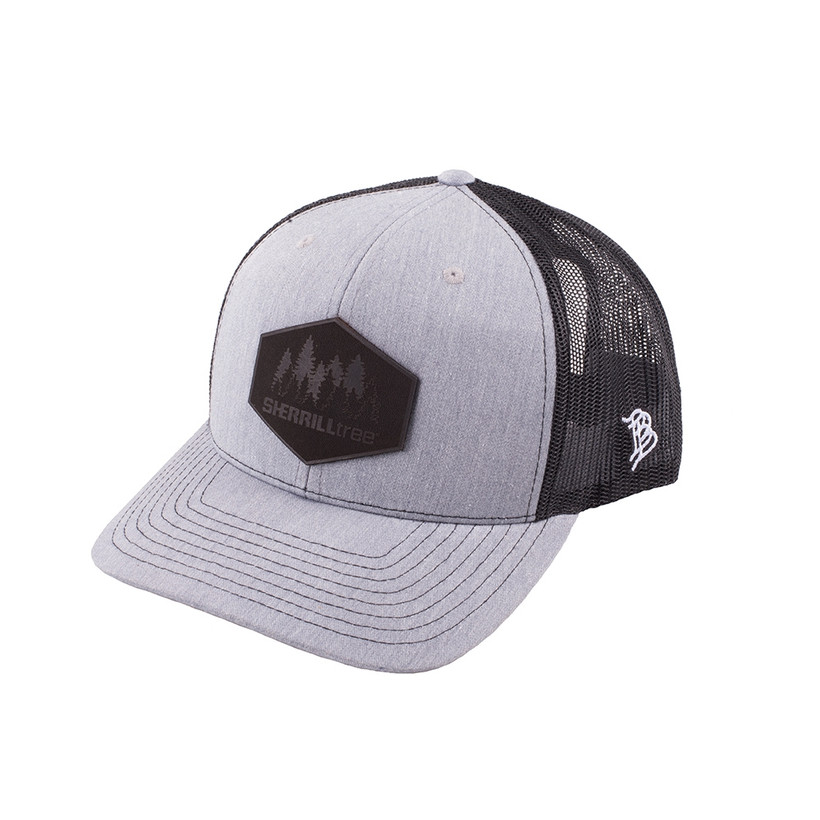 SherrillTree Leather Patch Trucker Hat