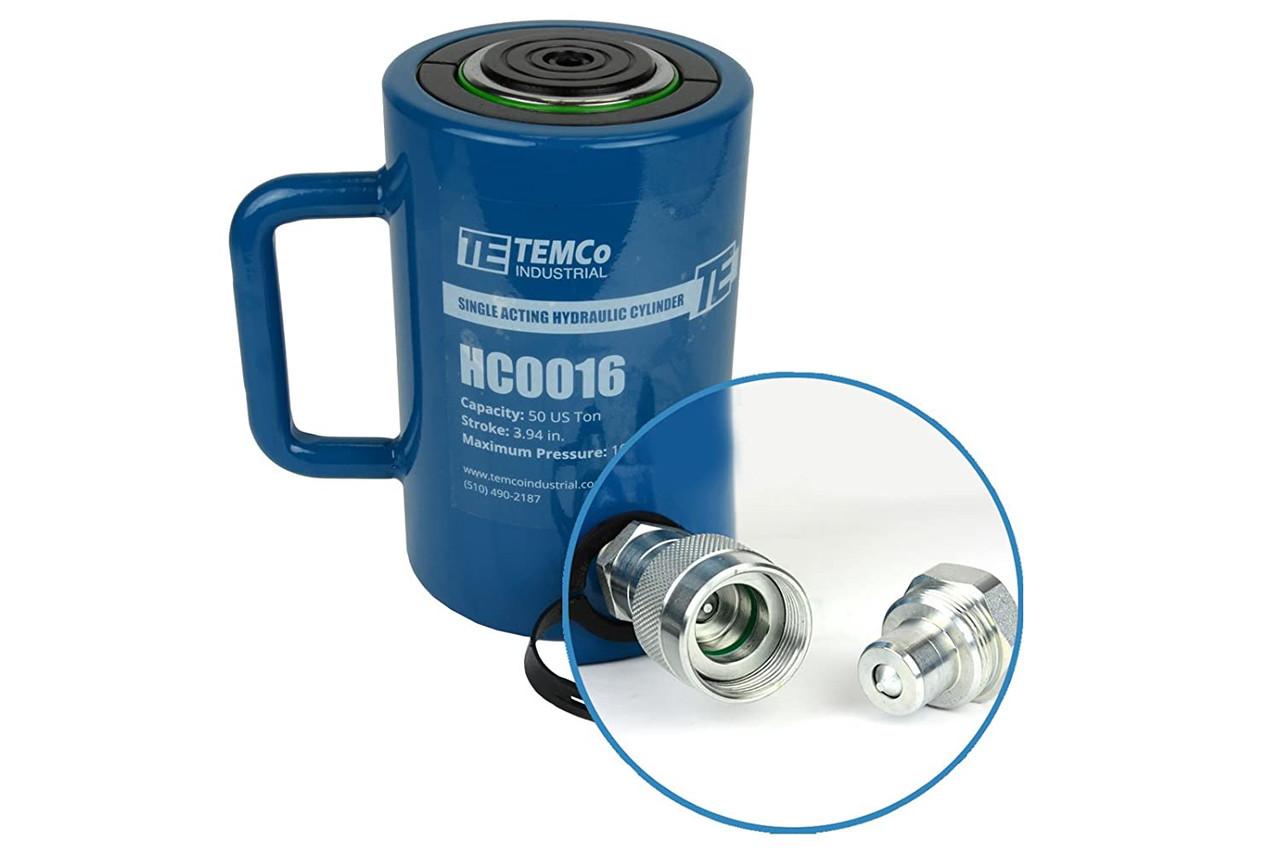100mm Stroke Protable Industrial Lifting Jack 10000PSI Jack Ram 635CC Hydraulic Cylinder Ram Single Acting 50 TON 4 Inch