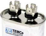 AC Electric Motor Run Capacitor RC0050 - 10 uf (mfd) 370/440 VAC Oval HVAC