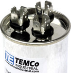 AC Electric Motor Dual Run Capacitor RC0114 - 45/5 uf (mfd) 440 VAC Round HVAC