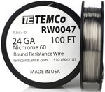 24 AWG 100 ft Nichrome 60 resistance wire.