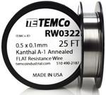 0.5 x 0.1 mm 25 ft Kanthal A-1 flat ribbon resistance wire.