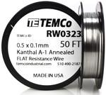 0.5 x 0.1 mm 50 ft Kanthal A-1 flat ribbon resistance wire.