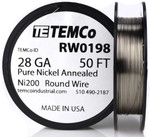 Pure Nickel Wire 28 AWG RW0198 - 50 Ft 0.38288 oz Nickel 200 Ni200 Non-Resistance