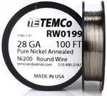 Pure Nickel Wire 28 AWG RW0199 - 100 Ft 0.76576 oz Nickel 200 Ni200 Non-Resistance