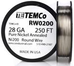 Pure Nickel Wire 28 AWG RW0200 - 250 Ft 1.9144 oz Nickel 200 Ni200 Non-Resistance