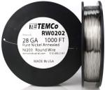 Pure Nickel Wire 28 AWG RW0202 - 1000 Ft 7.6576 oz Nickel 200 Ni200 Non-Resistance