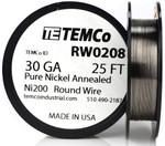 Pure Nickel Wire 30 AWG RW0208 - 25 Ft 0.12056 oz Nickel 200 Ni200 Non-Resistance
