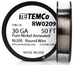 Pure Nickel Wire 30 AWG RW0209 - 50 Ft 0.24112 oz Nickel 200 Ni200 Non-Resistance