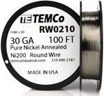 Pure Nickel Wire 30 AWG RW0210 - 100 Ft 0.48224 oz Nickel 200 Ni200 Non-Resistance