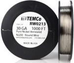 Pure Nickel Wire 30 AWG RW0213 - 1000 Ft 4.8224 oz Nickel 200 Ni200 Non-Resistance