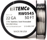 Stainless Steel Wire 22 AWG RW0545 - 50 FT 1.38 oz SS 316L Non-Resistance AWG