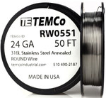 Stainless Steel Wire 24 AWG RW0551 - 50 FT 0.87 oz SS 316L Non-Resistance AWG