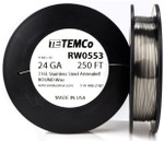 Stainless Steel Wire 24 AWG RW0553 - 250 FT 4.35 oz SS 316L Non-Resistance AWG