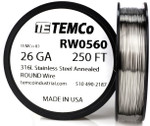 Stainless Steel Wire 26 AWG RW0560 - 250 FT 2.72 oz SS 316L Non-Resistance AWG