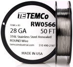 Stainless Steel Wire 28 AWG RW0566 - 50 FT 0.34 oz SS 316L Non-Resistance AWG