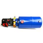 HP0012 12V DC Hydraulic Power Unit/Dump Trailer Pump 8 Qt Power up/Gravity Down (Single Acting)